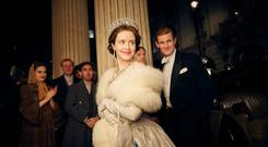 Royal rumpus: Claire Foy and Matt Smith in The Crown