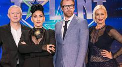 Part of TV3's 'super Saturday', Ireland's Got Talent with Louis Walsh, Michelle Visage, Jason Byrne and Denis van Outen Photo: Stephen McCarthy