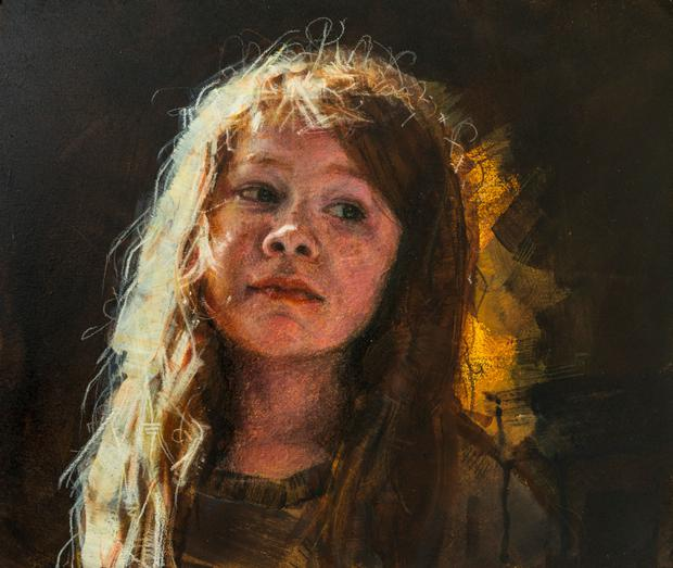 Hetty Lawler's portrait of her younger self that won her a place in the Sky competition. Photo: Michael Mc Laughlin