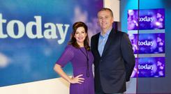Maura Derrane and Daithi O Se on the Today set
