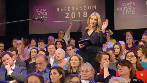 Last week's Claire Byrne Live referendum special