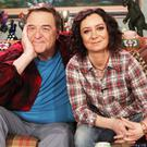 John Goodman and Sara Gilbert in Roseann