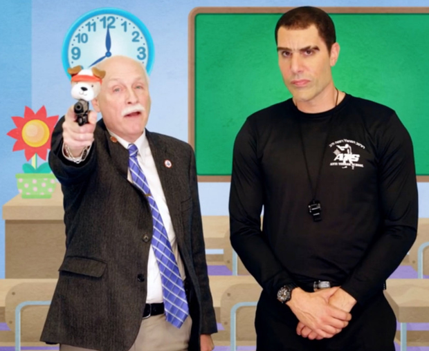 'Kinderguardian': Sacha Baron Cohen with progun campaigner Philip Van Cleave in Who Is America?