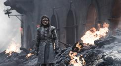 Gripping: Arya Stark stands in the ashes in last week's episode