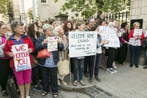 Coming Home: an event to honour the Magdalene women held on Dawson Street, Dublin last June