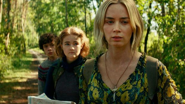 Emily Blunt (front) in A Quiet Place II