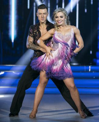 Former Cork camogie player Anna Geary and her dance partner Kai Widdrington during season two of Dancing With The Stars. Photo: Kobpix