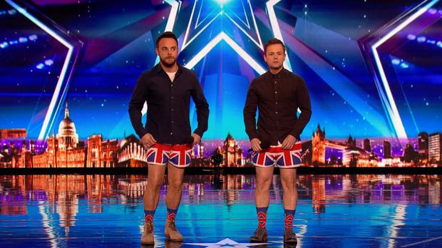 Ant and Dec on Britain's Got Talent (ITV/BGT)