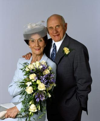 June Brown and John Bardon in their roles as Dot and Jim Branning in Eastenders