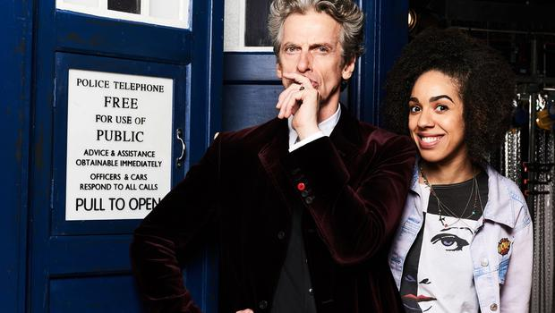 For use in UK, Ireland or Benelux countries only Undated BBC handout photo of Peter Capaldi as Doctor Who with Pearl Mackie who has been named as the new Doctor Who companion.