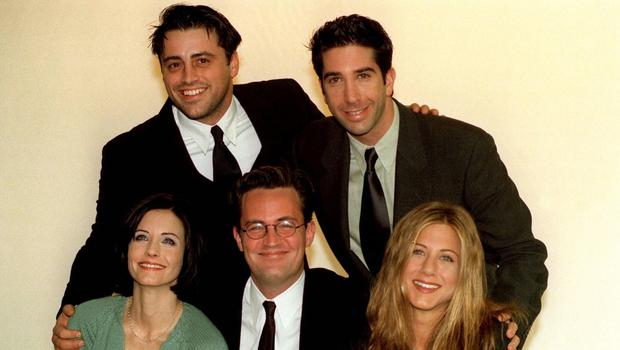 Five of the stars of the sitcom Friends