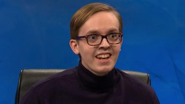 Johnny Gibson is making an impression on University Challenge (BBC)
