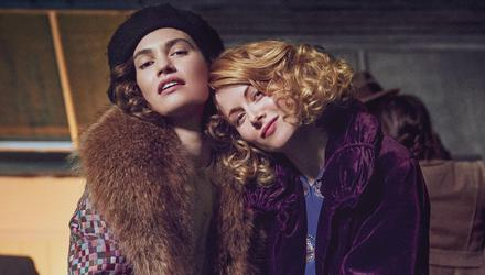 Lily James and Emily Beecham star in The Pursuit of Love. Photo: Robert Viglasky