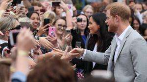 The Duke and Duchess of Sussex meet the crowds (Brian Lawless/PA)