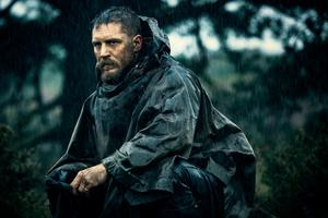 Brooding: Tom Hardy in new series 'Taboo'