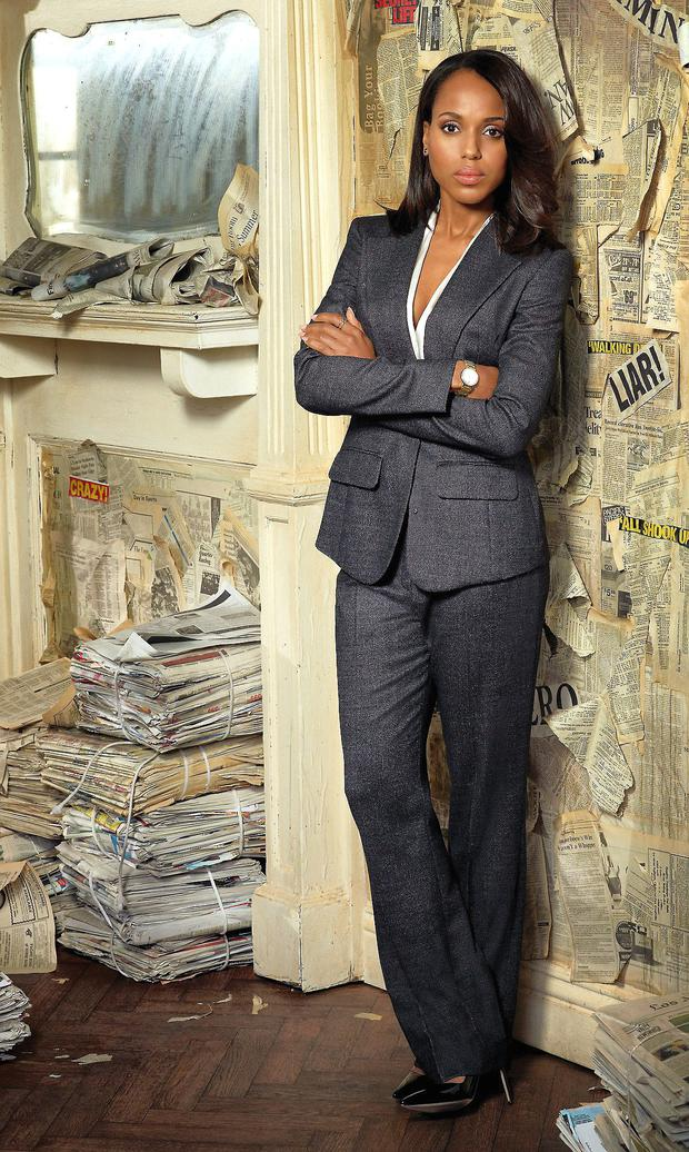 Smouldering: Kerry Washington as Olivia Pope in Scandal.
