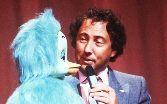 Keith Harris and Orville the Duck at the Royal Variety Performance in 1982 Photo: Rex Features