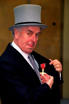George Cole with his OBE