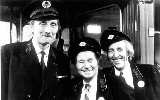 Stephen Lewis, Reg Varney and Bob Grant in On the Buses