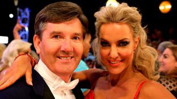 Daniel O'Donnell with Natalie Lowe at the launch of 'Strictly Come Dancing 2015'
