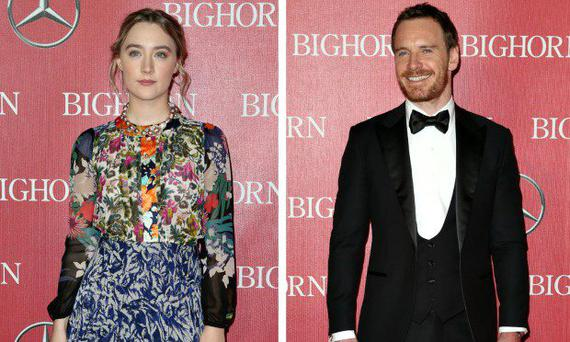 Saoirse Ronan and Michael Fassbender at the Palm Springs Film Festival