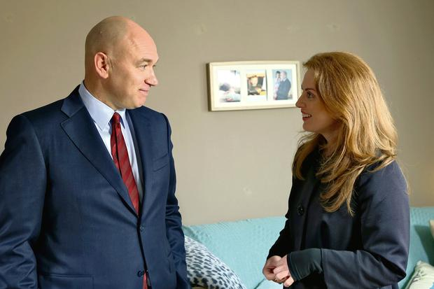 Clelia as Niamh with actor Tony Tormey in Fair City
