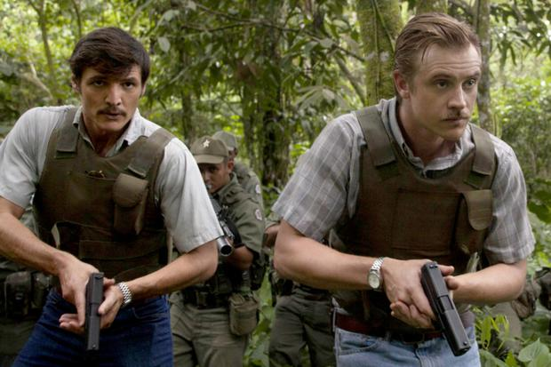 Boyd Holbrook and Pedro Pascal in 'Narcos'