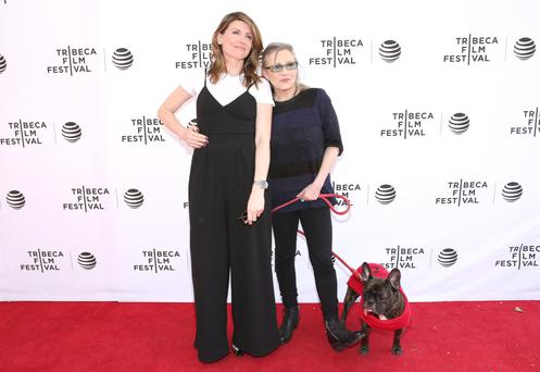 Sharon Horgan and Carrie Fisher.
