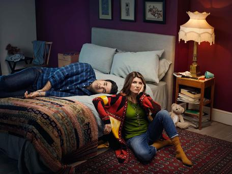 Pillow talk: Rob Delaney and Sharon Horgan as Rob and Sharon Norris in Catastrophe