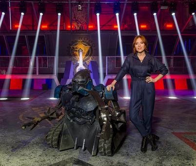 Programme Name: Robot Wars - TX: n/a - Episode: n/a (No. n/a) - Picture Shows: Angela Scanlon - (C) Mentorn Media Scotland - Photographer: Alan Peebles