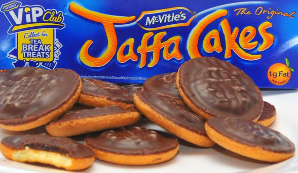 A general view of a plate of Jaffa Cakes. New bidders are being sought for Jaffa Cakes and Hobnobs firm United Biscuits after talks with a Chinese food giant hit the buffers, it was reported today.