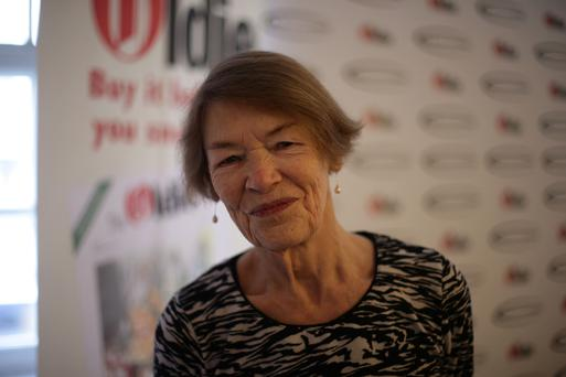 Glenda Jackson arriving for The Oldie of the Year Awards at Simpsons in the Strand, central London.