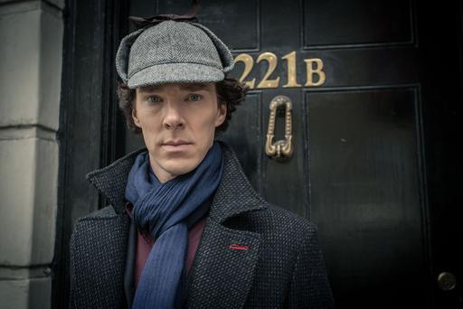 """For use in UK, Ireland or Benelux countries only Undated handout file photo issued by the BBC of Sherlock Holmes played by Benedict Cumberbatch, who has said he is honoured the """"sociopath"""" detective has been named the world's favourite BBC TV character."""