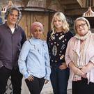 Giorgio Locatelli, Nadiya Hussain, Zoe Ball and Rosemary Shrager, who will appear on The Big Family Cooking Showdown, the new cooking contest set to heat things up at the BBC.