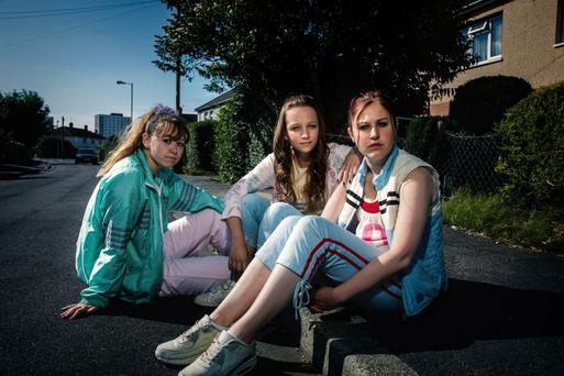 Powerful drama: Ria Zmitrowicz as Amber, Molly Windsor as Holly and Liv Hill as Ruby in BBC series Three Girls