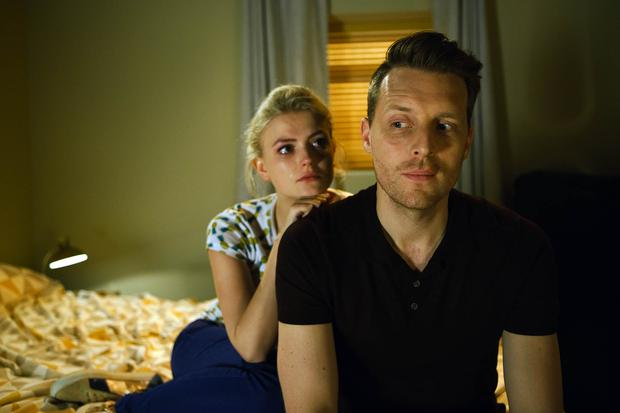 Chris Harper and Lucy Fallon as Nathan and Bethany in Coronation Street