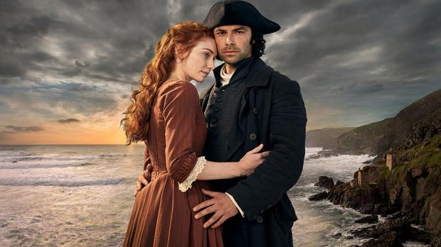 Holding on: Poldark and Demelza (played by Eleanor Tomlinson) have had their ups and downs