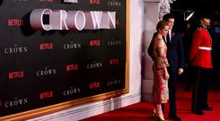 Claire Foy and Matt Smith's The Crown is up for best drama at the TV Choice Awards (Ian West/PA)