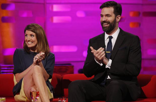 Sharon Horgan and Catastrophe co-creator Rob Delaney (Jonathan Brady/PA)