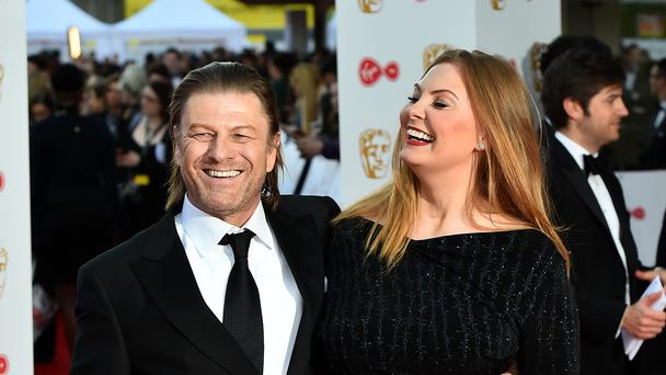 Sean Bean and Ashley Moore arriving for the Virgin TV British Academy Television Awards 2017 (PA)