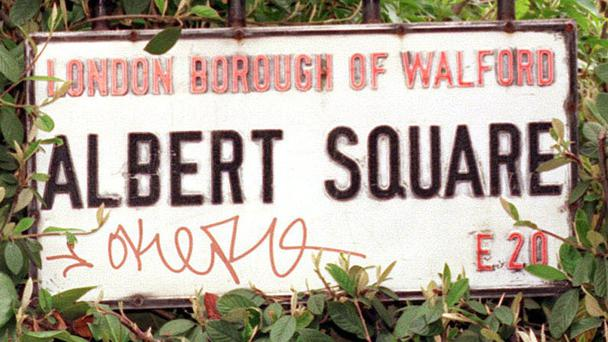 Albert Square sign (PA)