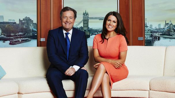 Piers Morgan and Susanna Reid present Good Morning Britain (ITV)