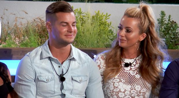 Love Island's Chris and Olivia (ITV)