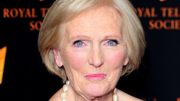 Mary Berry arrives at the Royal Television Society's RTS Programme Awards, at the Grosvenor House Hotel in London.