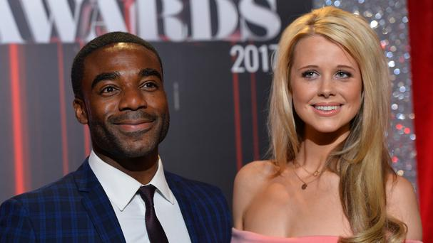 Ore Oduba and Portia attending the British Soap Awards (Matt Crossick/PA)