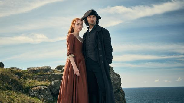 Eleanor Tomlinson and Aidan Turner play Demelza and Ross Poldark (Mammoth Screen/BBC)