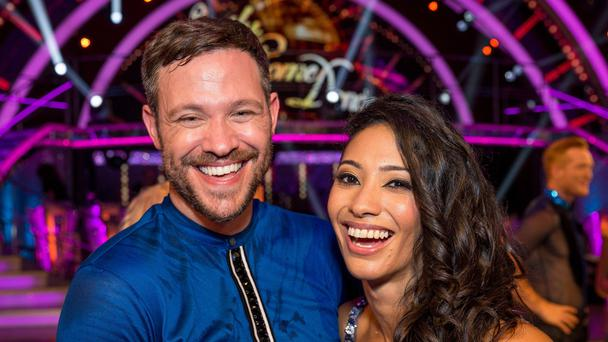 Karen and Will did well in the early weeks of the competition (Guy Levy/BBC)