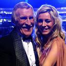 Tess Daly and Sir Bruce.