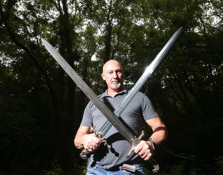 Master at arms: Tommy Dunne created the weapons used by Game of Thrones stars. Photo: Jonathan Porter/PressEye.com