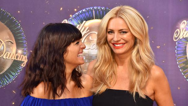 Claudia Winkleman and Tess Daly at the launch of Strictly Come Dancing 2017 at Broadcasting House (PA)